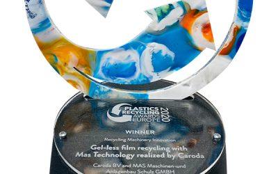 Caroda Polymer Recovery Plastics Recycling Awards Europe 2020 Winnaar